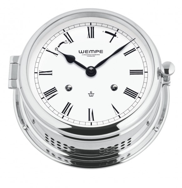 Glasenuhr Admiral -II Messing verchromt
