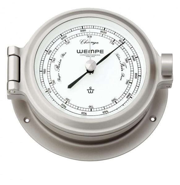 Barometer NAUTIK Messing matt vernickelt