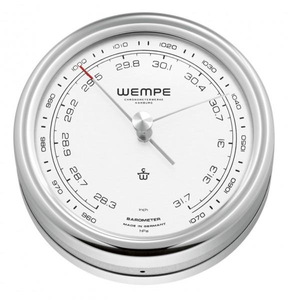 Barometer PILOT V Edelstahl poliert