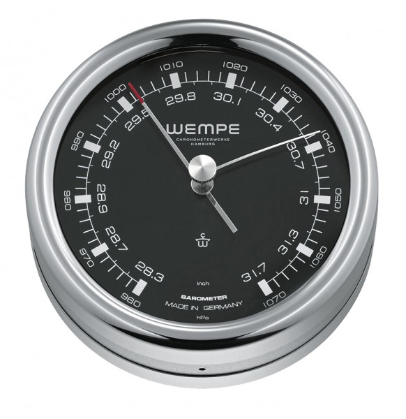 Barometer PILOT III Edelstahl poliert