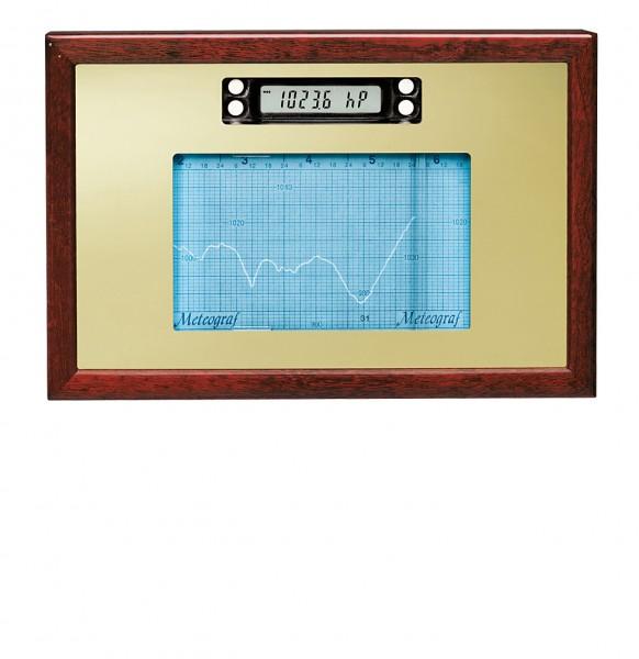Holzgehäuse mit Spiegel in Mahagoni für Meteograf