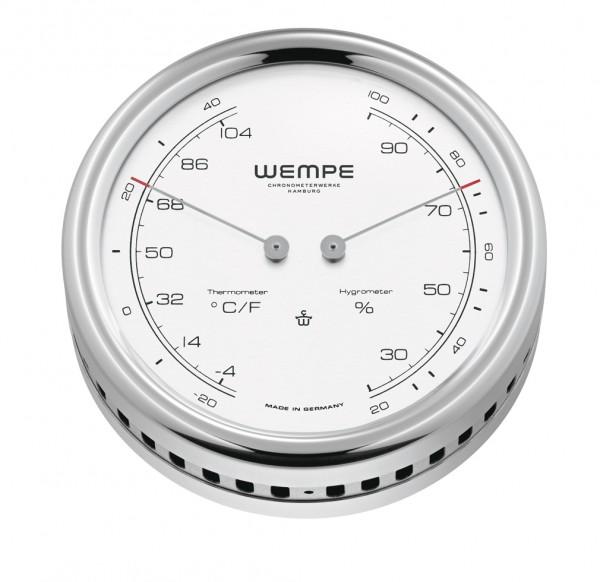 Hygro-/Thermometer PILOT V Edelstahl poliert