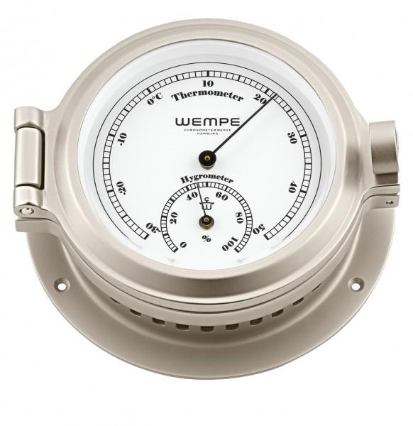 Hygro-/Thermometer NAUTIK Messing vernickelt